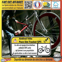 Sticker Autocollant antivol velo tracker gps alarme protection sim