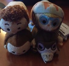"New Disney Store Tsum Tsum Plush Star Wars Mini 3 1/2"" Lot of 4 Anakin Sebulba +"