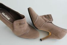 Mollini Tan Suede ankle booties boots shoes heels, suede Leather Size 37