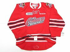 OSHAWA GENERALS RED OHL AUTHENTIC PRO CCM EDGE 2.0 7287 HOCKEY JERSEY SIZE 56