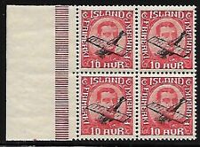 Iceland Scott C1 - MNH - Block or 4 With Selvedge - VF