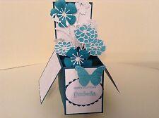 Handmade Card - Happy Birthday Grandmother flowers in a box -pop up design