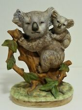 Vintage Lefton China Hand Painted Bisque Porcelain Koala Mom & Baby Joey #Kw4751