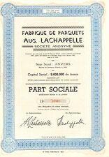 Fabrique de Parquets Aug. Lachappelle SA, accion, 1960 (Siege: Anvers)