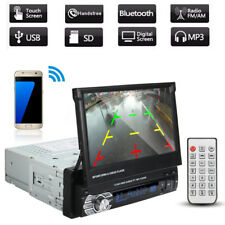 "7"" Touch Screen Single Din 1 DIN Car Stereo Flip out DVD Player Bluetooth RDS"