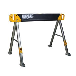 Portable Folding Work Table Heavy Duty Steel SawHorse Durable Pivoting Feet