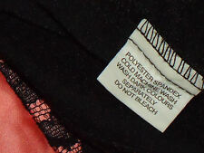 BLOCKOUT BlackPinkStretchSatinLaceBanded Size12 NWoT