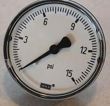 "Pressure Gage, Wika 2.5"" 15 psi"