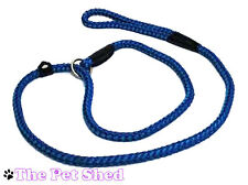 Dog Puppy Pet Walking Adjustable Rope Easy Slip Two Tone Lead Collar