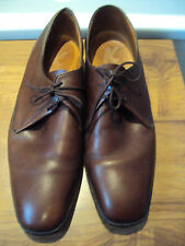'K' Shoes ~ Brown All Leather Lace-up Shoes Town & Country ~ size 9