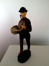 French Horn player figurine German Soldier Marching Band Elastolin-Lineol PreWar