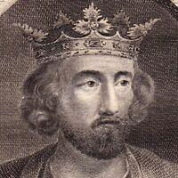 Portrait XVIIIe Edouard Ier Edward of England Longshanks Malleus Scottorum