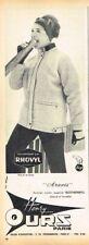 E- Publicité Advertising 1963 Vetement de ski sport d'Hiver Manteau Henry Ours