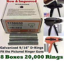 Hog Rings 20,000 9/16 GALV for Stanley Ringer Gun Aviary Net Deer Fence USA Made