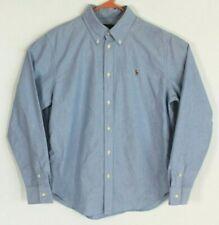 Ralph Lauren Blue Label Mens Large Blue Chambray Button Down Shirt Long Sleeve