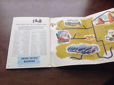 Vtg 1952 UNION PACIFIC RAILROAD Scenic Travel Book ZION Grand Canyon BRYCE train