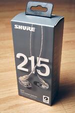 Shure SE215-CL Sound Isolating In-Ear DJ Monitoring Headphones Earphones