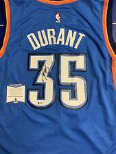 Kevin Durant Signed Jersey Beckett COA Oklahoma City Thunder Warriors BAS Large