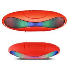 Enceinte sans fil Bluetooth Portable Radio FM USB Lecteur de carte LED / Rouge
