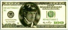 WAYNE GRETZKY CUSTOM MADE U.S.A 100 DOLLAR BILL Card / Print $ Rare NY Rangers