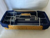 Longaberger 2004 Hostess Household Caddy Basket Carrier Indigo Liner Plastic Pro