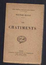 VICTOR HUGO LES CHATIMENTS  LIBRAIRIE CHARPENTIER et FASQUELLE 1926