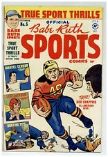 Babe Ruth Sports Comics #5 (VGF) Football Baseball Hunting 1949 Harvey (j#2126)