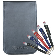 """50% OFF"" MASTERS DELUXE LEATHER GOLF SCORECARD HOLDER + FREE DELUXE PENCILS x5"
