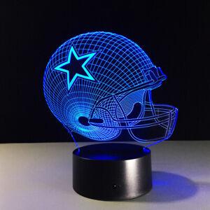 Dallas Cowboys LED Light Lamp Collectible Dak Prescott Romo Ezekiel Elliott Gift