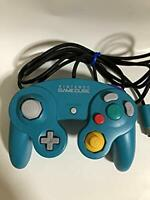 Used Nintendo Official GAMECUBE Controller GC Emerald Blue  Japan f/s w/tracking