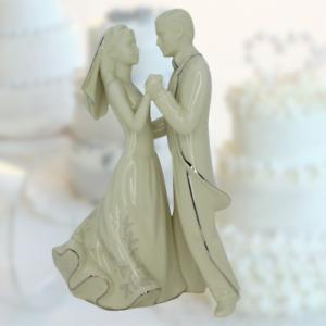 Lenox Bride & Groom First Dance Cake Topper Wedding Promises Porcelain