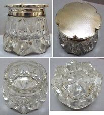 Superbe flacon  à parfum cristal argent massif vers 1920 Espagne silver bottle