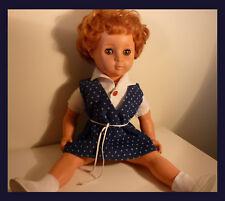 """Vintage Doll, 60's, Sleepy Eyes, Speaker Box, Ginger Hair, 17,32 """" (44 cm)"""