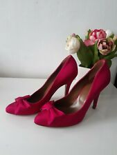 Hobbs Woman Pink Bow High Heels Shoes Size Eur 40