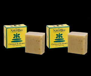 The Naked Bee Oatmeal & Honey Triple Milled Soap 2.75 oz Size In Box USA Lot 2