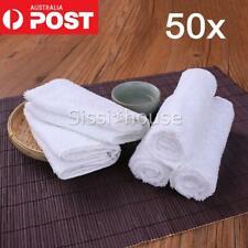 50PCS Plain towels Budget Face Washer Wipe Cotton Terrycloth 28x28cm AU - Bulk
