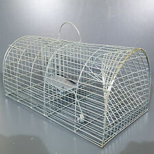 XXL METAL RAT TRAP CAGE METAL MOUSE CAGE HUMANE ANIMAL PEST CONTROL LARGE STRONG