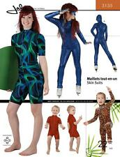 Jalie Skinsuit, Wetsuit UV Suit or Modest Swimwear 22 sizes Sewing Pattern  3135