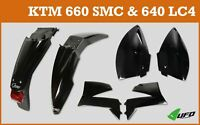 KTM LC4 640 2004 - 2007  UFO Motocross Plastic Kit with Tail Stop Light Black