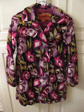 Missoni For Target Girls Jacket Slim Fit Velour Purple Green Pink Floral Sz L
