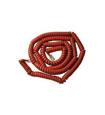 25 Foot Extra Long Phone Telephone Handset Cable Cord Red Curly 2500RD