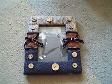 """5 1/2"""" x 7"""" buttons and material picture frame"""