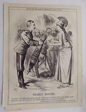 Punch Magazine ANTIQUE BOOK Imprimer 1874 Britannia Sir Garnet WOLSELEY 10x8 pouces