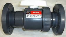 "New Hayward BV10200F 2 inch PVC SCH 80 Ball Valve 2"" Flange type"