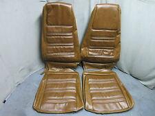 70 Mustang Standard Front Bucket Seat Upholstery Reproduction Medium Ginger