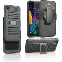 Case for Motorola Moto E6/ E6 Plus Holster Belt Clip Case Hybrid Defender Cover