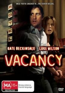 VACANCY DVD 2007 Horror Movie - Kate Beckinsale, Luke Wilson AUSTRALIAN REGION 4