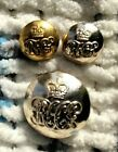 THREE MILITARY BUTTONS. ROYAL HORSE GUARDS Q/C 26 MM, 2 x 16 MM.