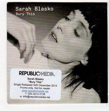 (FA472) Sarah Blasko, Bury This - 2013 DJ CD