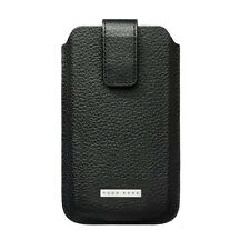 Original Hugo Boss Black Grain Leather Case Cover for Samsung B3210 Genio QWERTY